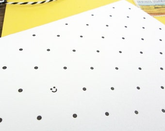 Polka Dot Smiles Letterpress Greeting Card Set of 6