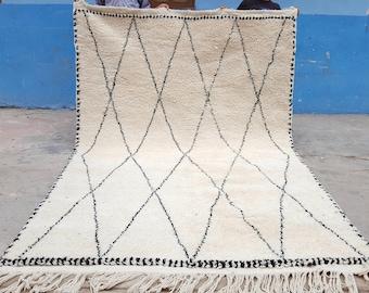 Moroccan rug Beni Ourain rug handmade 100% wool  10 x 6,5 feet