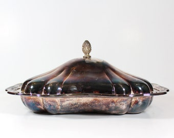 Antique Silver Serving Dish - The Sheffield Silver Co.