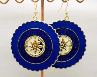 Lovely blue enamel round