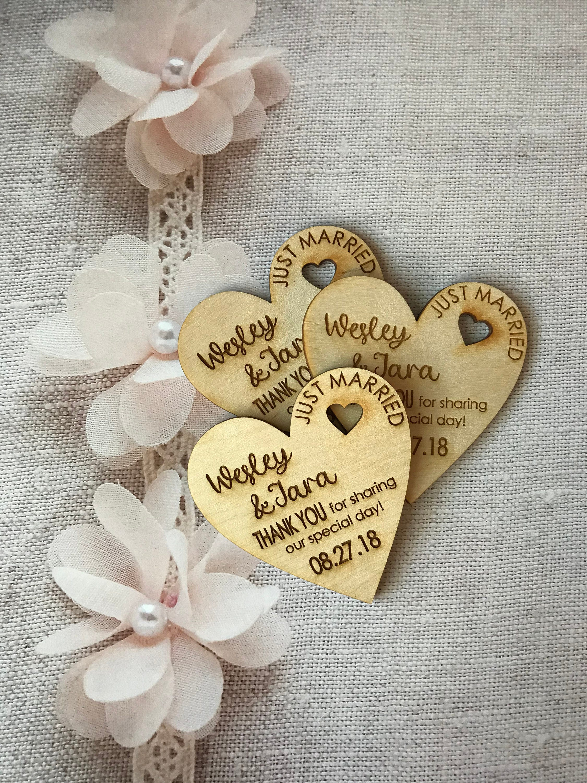 75 Heart Thank You Wedding Favors 3 Wedding Favor Magnet Bride