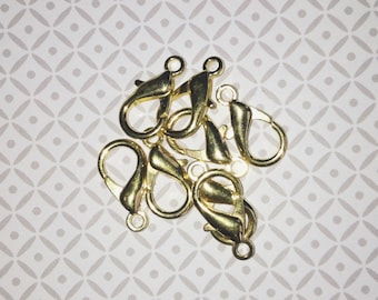 1 large lobster clasp 16mm gold jewelry