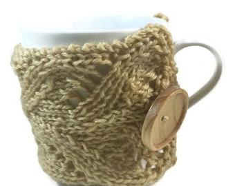 Coffee Mug Sweater - Brown Mug Cozy - Coffee Mug Warmer - Coffee Lovers Gift - Coffee Cup Holder - Coffee Cup Sleeve - Coffee Cup Cozy