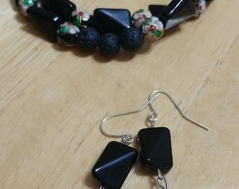 Wrap Bracelet & Matching Earrings