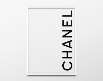 "Coco Chanel Print ""Chanel"" Chanel Logo, Chanel Poster, Chanel Quote, Chanel Wall Art, Fashion Poster, Fashion Print, Girls Room Wall Art"