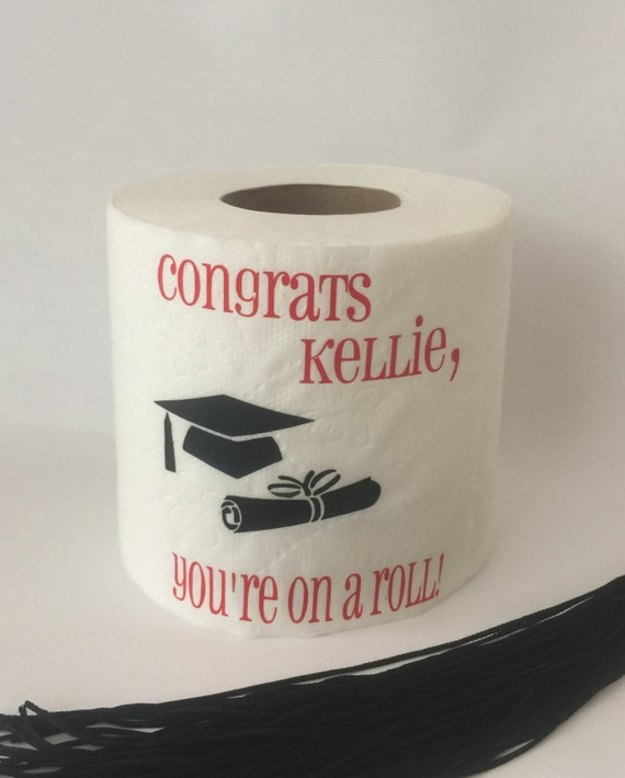 Personalized Toilet Paper Graduation Gift Gifts for Him or