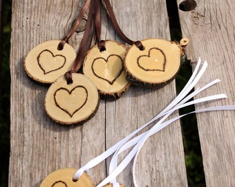Rustic Wedding Tokens Mason Jar Decoration Hearts Table Centerpiece Heart Valentines Day Decor