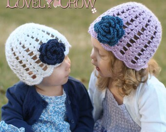 Baby Girl Hat Crochet Pattern for SPRING PROMISES BEANIE digital
