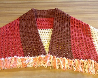 Lightweight All-Cotton Shawl in Desert Tones Fiesta! FREE SHIPPING