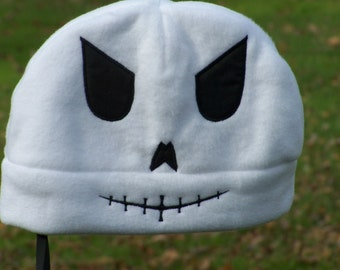SALE--Skull Face Fleece Hat