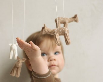 baby mobile - fawn mobile - woodland mobile - baby deer mobile - made to order