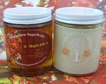 Maple Cream AND Maple Jelly Combo Pack (Small)