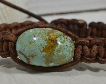 Turquoise Bracelet Gemstone jewelry Wrap Bracelet Leather wrap Bracelet