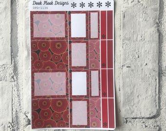 Poppy Box stickers Erin Condren, Plum Paper, Filofax, Kikki K (DPD1134)