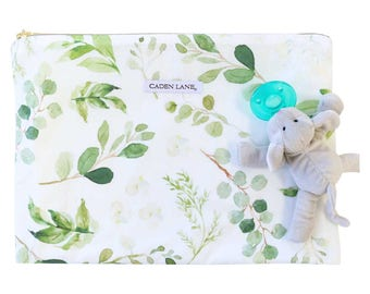 Leafy Greenery Zippered Wet Bag  | Nature-Inspired Travel Bag | Leaves & Twigs Print | Cloth Diaper Zip Pouch |  Water-Resistant Bag