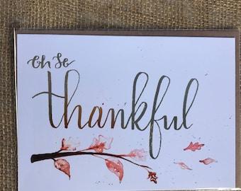 Oh so thankful fall gratitude/appreciation card