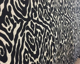 Black and White Leopard Print Fabric