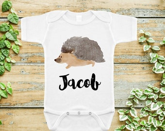 Cute Hedgehog Onesie and Toddler TShirts -Baby Gift-3 to 18mos to 5T-Cute Onesie and Kids Tees-Baby Shower Gift-Sweet and Sassy Treasures