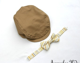 Boys Khaki Newsboy Hat, Navy Blue Newsboy Hat, Ring Bearer Outfit, Baby Driving Cap, Toddler Formal Wear, Baptism Hat, Family Photo outfit
