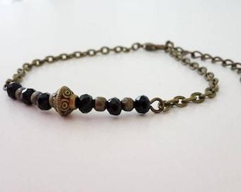 Bronze - 005 black Boho bracelet