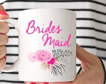 Floral Bridesmaid Coffee Mug - Coffee Cup - Large Coffee Mug - Statement Mug - Sassy Mug - Large Mug - Funny Mug - Statement Mugs