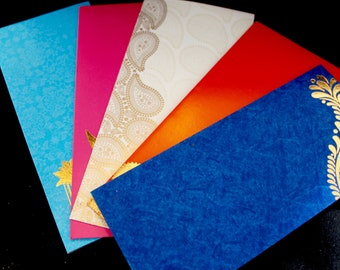 Set of 5 Money Envelopes, Money Envelope, Wedding Favor, Wedding Gift, Assorted Envelopes, Cash Envelopes, Gift Card Envelope, Gift Envelope
