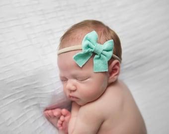 Baby Hair Bows, Sailor Bow, Baby Girl Headband, Nylon Headband, Baby Bows, Felt Headband, Hair Bows, Girls Hair Clips, Schoolgirl Bows, Bows