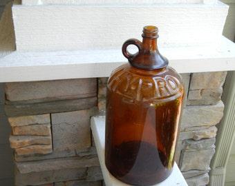Rare 'Gallon' Antique Brown 'Hy Pro'  Bottle