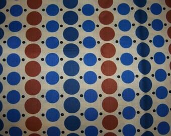 Denyse Schmidt Katie Jump Rope Big Dot Little Dot Blue Brown FQ