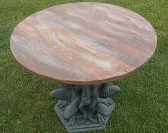 "32"" Reclaimed Barn Wood Table Top"