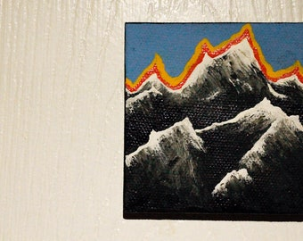 Rocky Mountains - Acrylic Painting