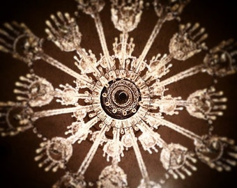 Snowflake chandelier etsy snowflake mozeypictures Choice Image
