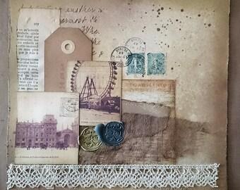 Vintage Postal Collage