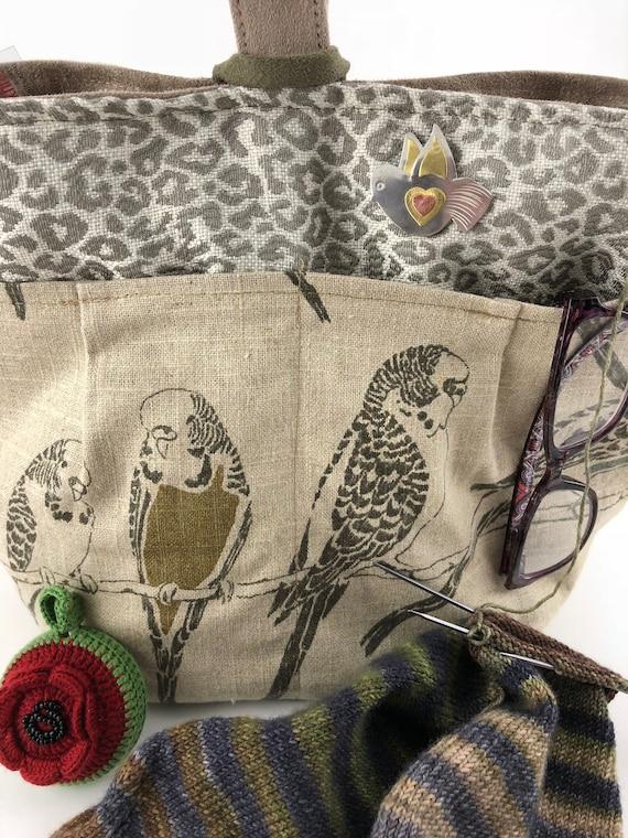 Bird Needle Minder Puffin Needle Nanny Copper Knitting Pattern