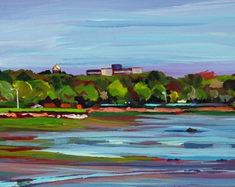 Maine Landscape Plein Air Painting Back Cove Portland