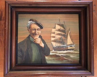 Lawrence Forbes Wolfe Framed Oil Painting on Wood
