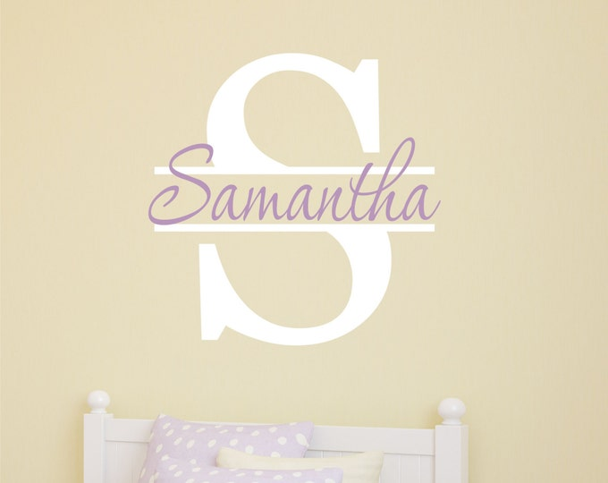 Monogram Decal, Vinyl Decal, Wall Decals, Girls Name Decal, Teen Room Decor, Kids Name Sign, Bedroom Decor, Kids Room Decals, Custom Name