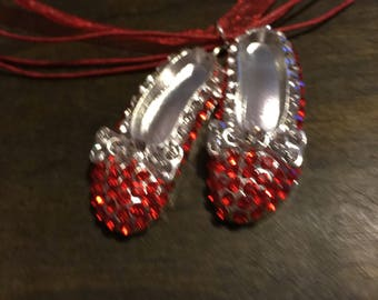 Ruby slipper pendant