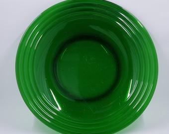 "Vintage Emerald Green Plates - 8-1/8"""