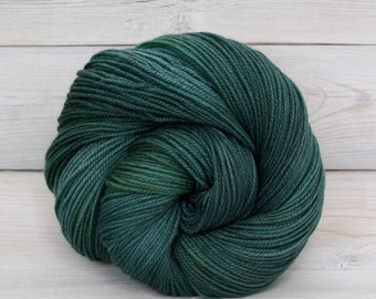 Zeta - Hand Dyed Polwarth Wool and Silk DK Sport Yarn - Colorway: Viridian