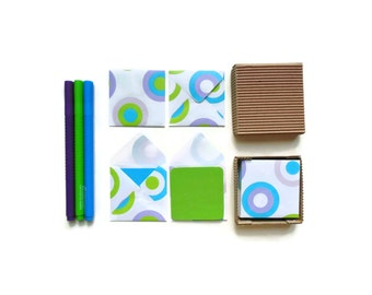 Color Dots Mini Stationery Set