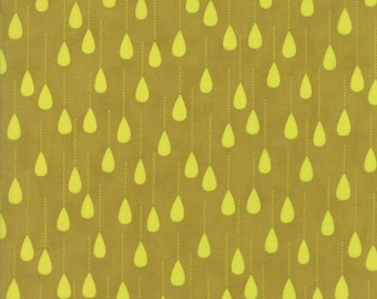 Green Raindrop Fabric - Wing & Leaf by Gina Martin from Moda - Fat Quarter