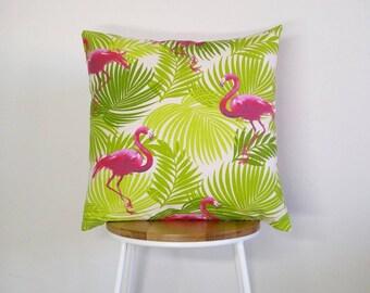 Tropical Flamingo cushion cover