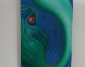 Green Mermaid Tail with Shell