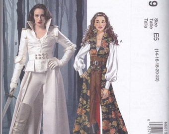 M6819 McCall's Coats, Tops, Corset, and Belt Sewing Pattern Sizes 14-16-18-20-22 Once Upon a Time Snow White Cos-Play Costume