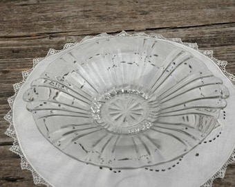 Fluted Glass Dish, serving dish, serving bowl