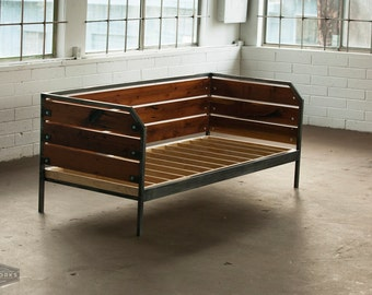 Modern Redwood Daybed or Sofa, Steel Frame, Custom, 'Meyers' Series