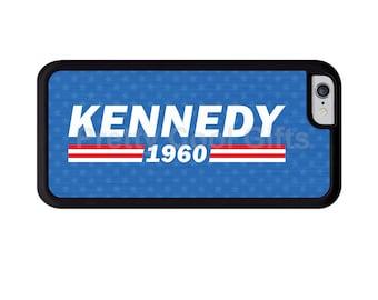 Kennedy 1960 Phone Case, John F. Kennedy - iPhone X 8 7 6 6s Plus, 5c, 5 5s SE, Galaxy S8 S8 Plus S7 S6 Edge S5,  cover rubber bumper