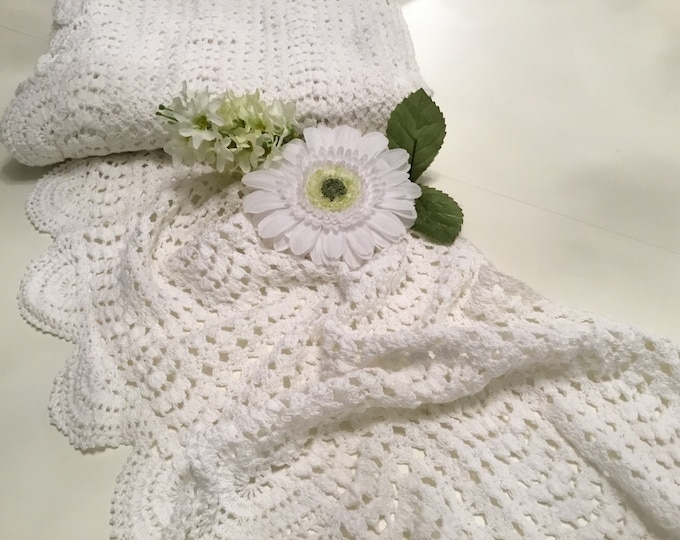 Lace made white crochet