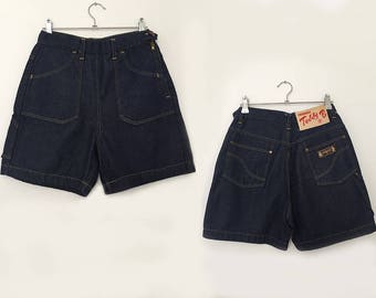 Vintage denim shorts / high waisted shorts / vintage shorts / denim shorts / jean shorts women / jean shorts / blue shorts / made in italy